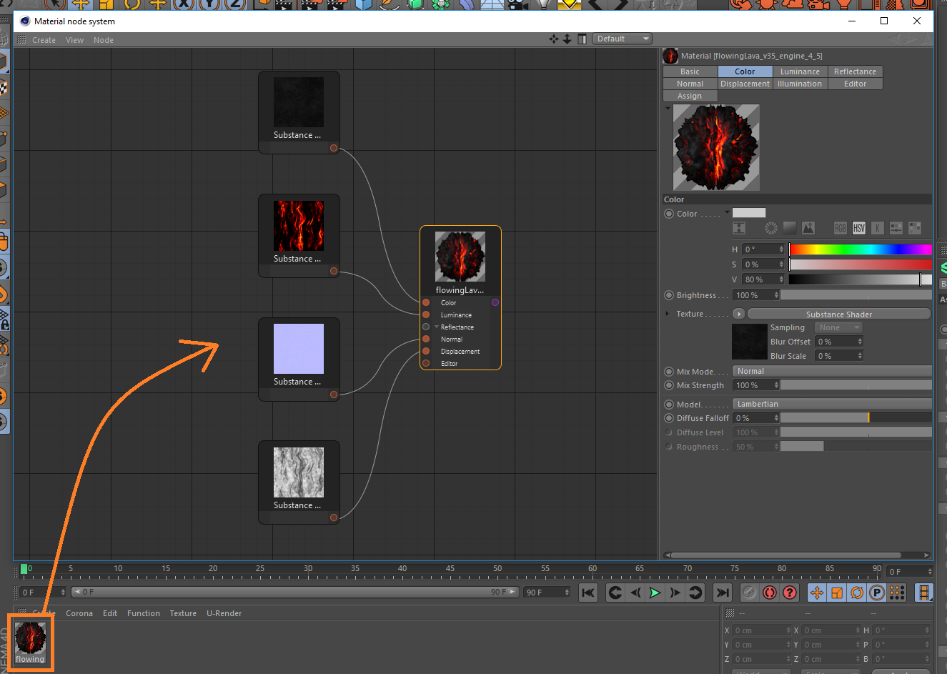 How to import Substance assets into Cinema 4D : Corona
