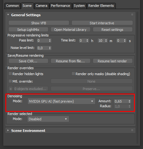How to use denoising? : Corona Renderer Helpdesk for 3ds Max plugin