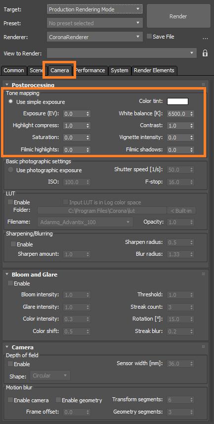 How to change exposure during rendering? : Corona Renderer