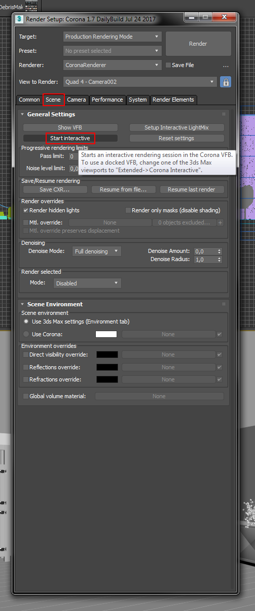 How to use Interactive Rendering? : Corona Renderer Helpdesk for 3ds