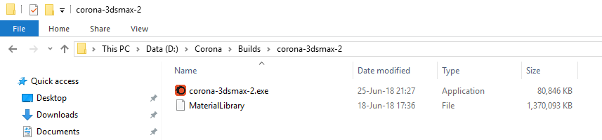 How to install the material library in offline mode? : Corona
