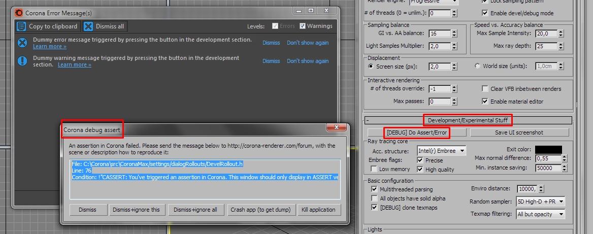 Assert Builds : Corona Renderer Helpdesk for 3ds Max plugin